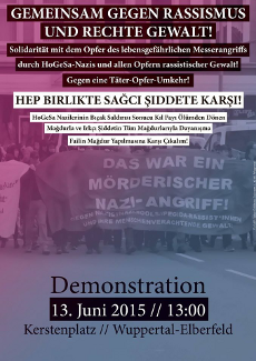 Antifa-Demo am 13.6.2015 in Wuppertal