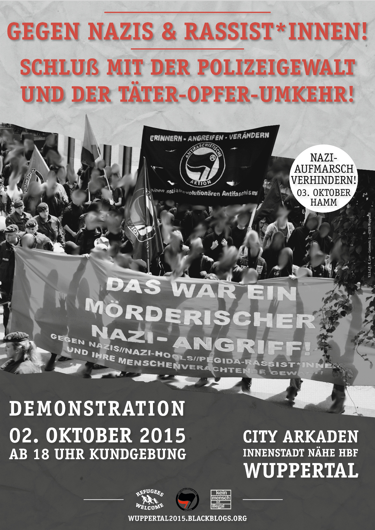 Antifa-Demo am 2. Oktober in Wuppertal