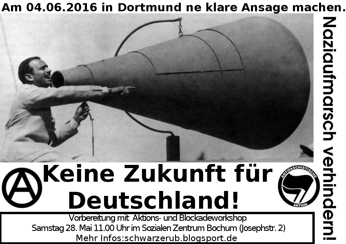 #NoTDDZ Aktions- und Blockadeworkshop am 28. April im SZ Bochum