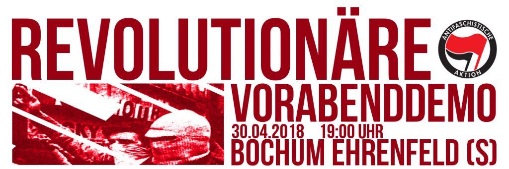 Revolutionäre Vorabenddemo 2018 in Bochum