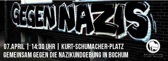 Gemeinsam gegen die Nazikundgebung in Bochum am 07.04.2018